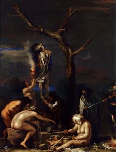 Witches at their Incantations, 1646 Salvator Rosa