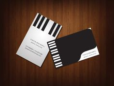 Business Card by tanwooikien Buissness Cards, Name Cards, Recital, Graphic Design Art, Logo Design, Visiting Card Design, Name Card Design, Music Flyer, Business Card Design
