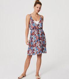 f4e19f7f3f5 Image of LOFT Beach Floral Strappy Wrap Dress Ann Taylor