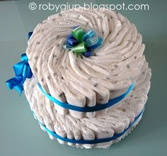 Torta di pannolini per la nascita del mio nipotino! - Diaper cake for the birth of my nephiew!
