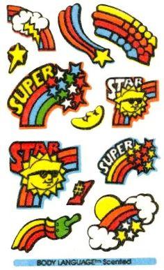 Mello Smello Body Language scratch and sniff sticker tattoos - 1980's