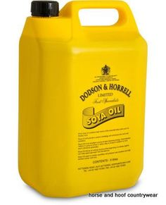 Dodson Horrell Soya Oil A traditional addition for your horse or pony s diet which can help to improve your horse s coat condition and shine.