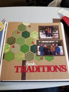 Family traditions. :: Hexagon tree; 2 photo layout. ::