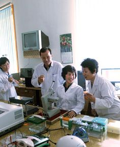 """We found a clue."": Researchers of Genetic Medical Science Research Institute of Pyongyang Medical College of Kim Il Sung University found a solution to diagnose incurable diseases on a high level at the end of long research. Now they are beaming with joy."