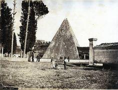 Giacchino Altobelli - Pyramid of Cestius, Rome, Italy, ca 1860