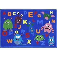 You'll have your young students dancing the day away while they learn their ABC's on the Monster Mash Alphabet Classroom Rug. Combining playful baby monsters interspersed amongst the alphabet to creat
