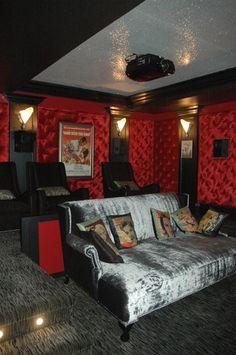 art deco theater eclectic media room toronto by restyle studio