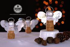 Como fazer Um anjinho com rolha -  Passo a passo com fotos - How to an Angel using cork - DIY tutorial  - Madame Criativa - www.madamecriativa.com.br