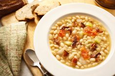 White Bean Vegetable Soup - Mediterranean Diet Recipes Your Family Will Love | Health | Life & Beauty Weekly