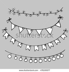 Image Result For Birthday Flags Sketches Flag Drawing Birthday Flags Black And White Sketches