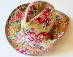 #hat #diy #tuto #rose Bellart Atelier: Faça você mesmo:- Chapéu de palha personalizado.