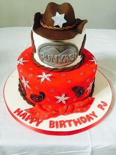"For our cowboy fans, Yami cakes presents ""The fighting Sheriff"" birthday cake designed and created by Yamuna Silva."