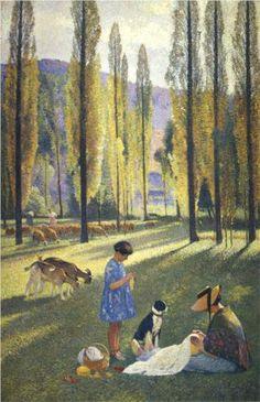 The Poplars - Henri Martin