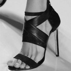 Charming, Comfortable, Sexy Women's Black Strappy Heels Open Toe Sexy Stiletto Heels Sandals for Women you best choice for Night club, Music festival -TOP Design by FSJ