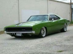 '68 charger. Green with envy