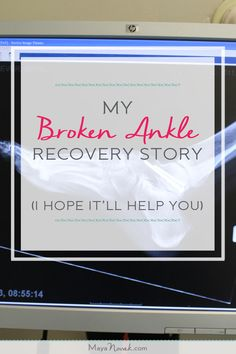 Broken ankle recovery story with a happy ending. Broken Foot, Broken Ankle Cast, Ankle Rehab Exercises, Broken Fibula, Broken Ankle Recovery, Fracture Healing, Ankle Fracture, Ankle Surgery, Sprained Ankle