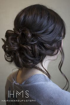 Loose curl up-do