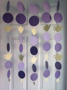 Tea pot paper garland | ... Shower Decorations, Paper Garland, Alice in Wonderland Party, Tea Time