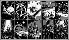 Mark Molnar - Sketchblog of Concept Art and Illustration Works: Dune - The Book (color roughs)