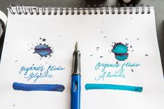 plastic bottle of Organics Studio Glycine, an blue fountain pen ink with silver shimmer. Goulet Pens Company, Arc Notebook, Pen Collection, Learn Calligraphy, Best Pens, Writing Art, Dip Pen, Fountain Pen Ink, Nature Journal