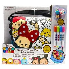 PURCHASED (2) One each for Allie and Livvy Disney Tsum Tsum Design Your Own Purse Activity