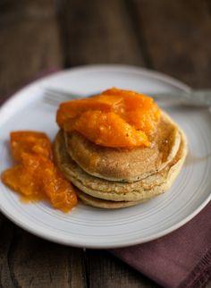Barley Pancakes with Apricots   Naturally Ella