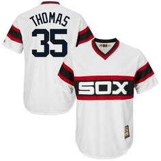fc6ca3d741f35 Frank Thomas Chicago White Sox Majestic Cool Base Cooperstown Collection  Player Jersey - White Navy