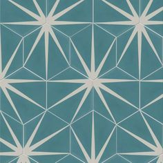 Ca'Pietra Cement Encaustic Lily-Pad Pattern Tile - Flooring from Period Property Store UK