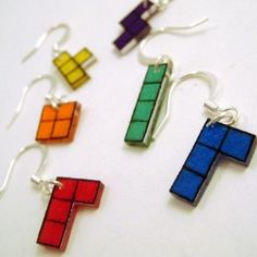 Tetris earrings!