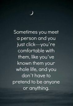 You don't have to pretend....