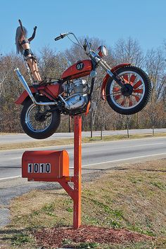 MOTORCYCLE MAIL BOX