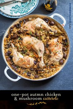 One-pot chicken and mushroom casserole - couple of adjustments to make it clean
