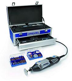 Dremel Caisse à outils Dremel 4000 Edition Platinium avec outil multi-fonctions Dremel 4000, 128 accessoires, arbre flexible, caisse en aluminium et autres accessoires F0134000KE