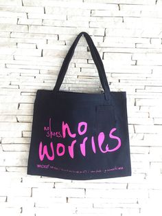 Items similar to EcoBag - No Shoes No Worries on Etsy Stationery, Reusable Tote Bags, Trending Outfits, Unique Jewelry, Handmade Gifts, Etsy, Shoes, Design, Products