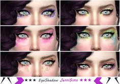 Sims 4 CC's - The Best: Eyeshadow by Jennisims Flower Makeup, Fairy Makeup, Makeup Box, Makeup Eyeshadow, Eyeshadows, My Sims, Sims Cc, Sims 4 Blog, Eyes