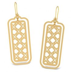 Funky Rectangular Lace Earrings