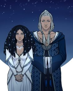 Varda & Manwe by http://gerwell.deviantart.com/ More: http://gerwell.tumblr.com/tagged/Tolkien