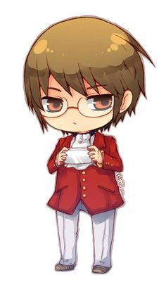 "This chibi is based off the anime ""The World God Only Knows."" This anime chibi picture is of Keima Katsuragi."