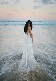 Don't think I'd want to get married on the beach, but everything about this is so pretty. -- ML