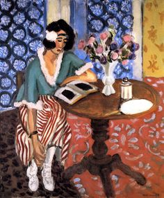 bofransson: Woman Reading at a Small Table Henri Matisse - circa 1923