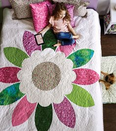 How To Make a Floral Bedding Quilt