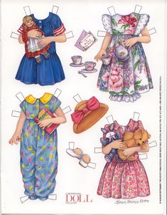 BRITA THE PAPER DOLL'S OUTFITS