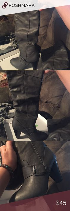 Rampage heeled boot NWT never worn or taken out grey 6 1/2 M boots-new still in box not even tried on Rampage Shoes Heeled Boots