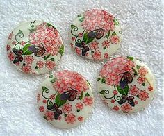 Korálky - Perleť.placka 25mm-1ks - 3106750