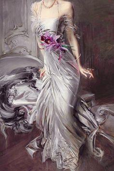 """Portrait of Madame Eugène Doyen"" (detail) by Giovanni Boldini. Giovanni Boldini, Baroque Art, Historical Women, Italian Painters, Victorian Art, Funny Art, Pretty Art, Belle Epoque, Vintage Art"