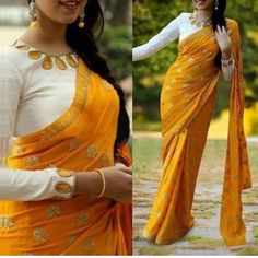 full neck blouse designs Blouse Back Neck Designs, Sari Blouse Designs, Saree Blouse Patterns, Fancy Blouse Designs, Skirt Patterns, Coat Patterns, Sewing Patterns, Anarkali, Lehenga