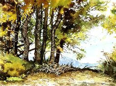 Claudia Nice Landscape Demo in Watercolor and Pen and Ink