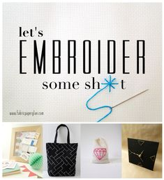 Let's Embroider Some Sh*t // DIY Jewelry Pouch
