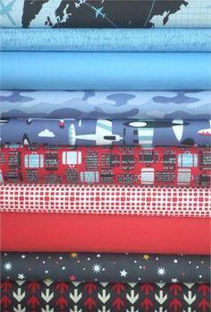 Fabricworm Custom Bundle, The Jet Set in FAT QUARTERS 10 Total