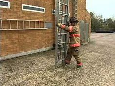 One Person 24 ft Extension. Firefighter Tools, Firefighter Workout, Firefighter Training, Volunteer Firefighter, Fire Training, Fire Fighters, Firefighting, Fire Department, Ems